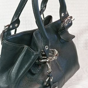 Tignanello Black Leather Satchel